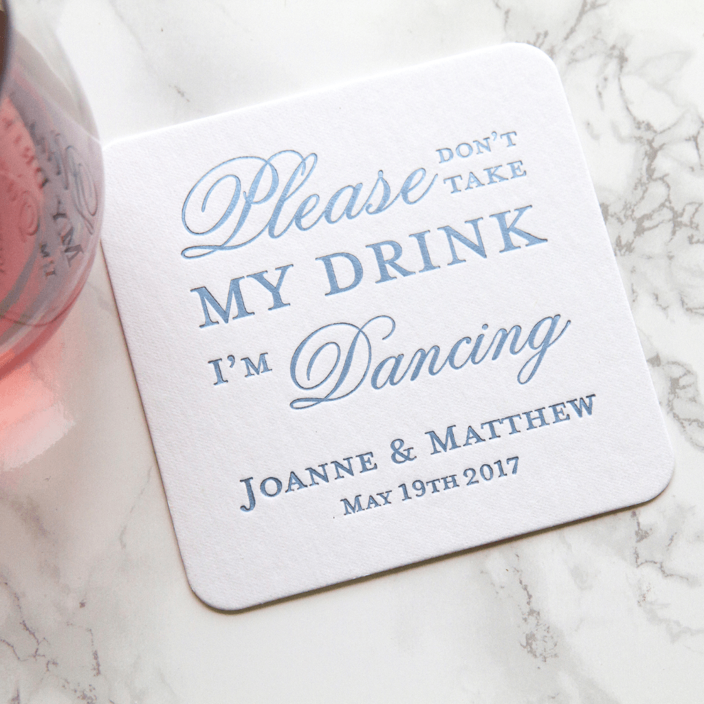 Please Don\'t Take My Drink Personalized Wedding Coaster - Pink Poppy ...