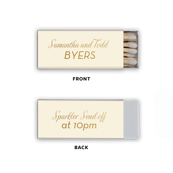 Matchbooks - Personalized Matchbooks | Piper Wedding Collection