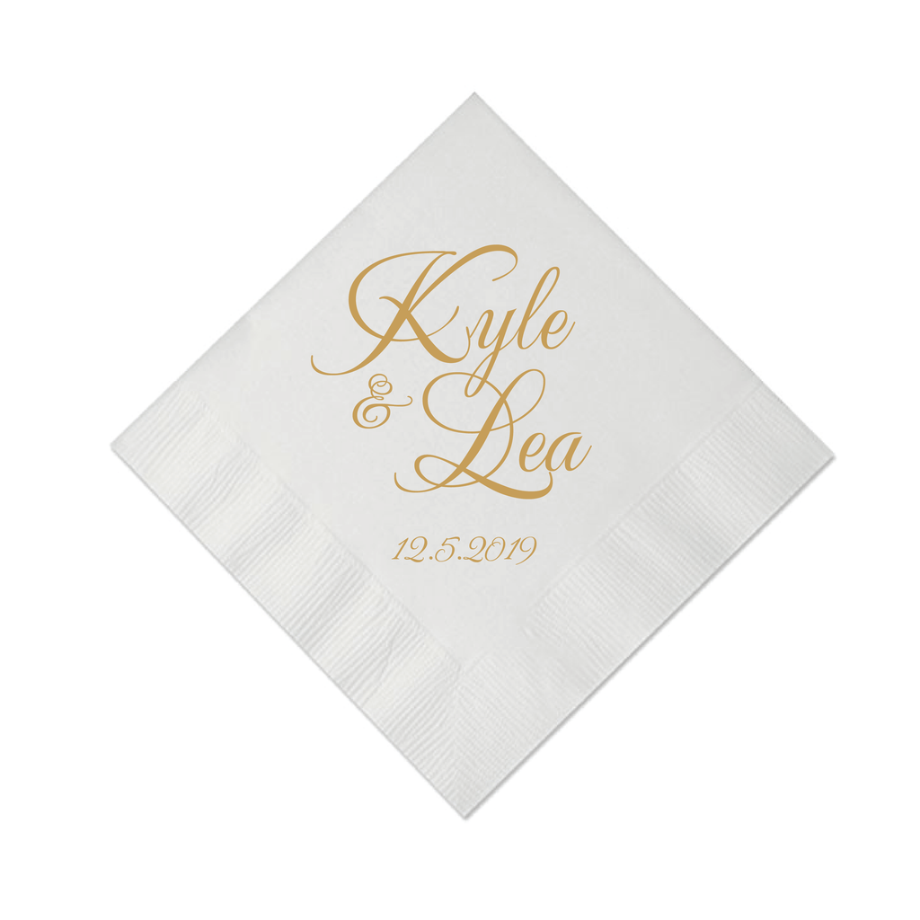 First Name Wedding Napkins
