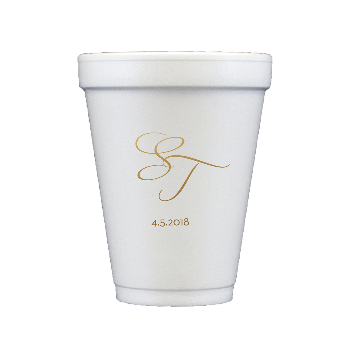 Personalized Wedding Cup - Personalized Foam Cups | Piper Wedding Collection
