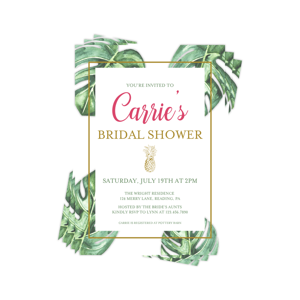 Bridal Shower Invitation | Tropical Palms