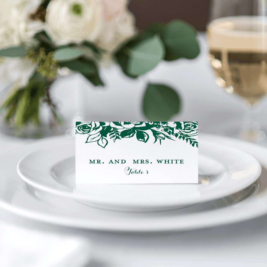 Place Cards | Floral - Pink Poppy Weddings