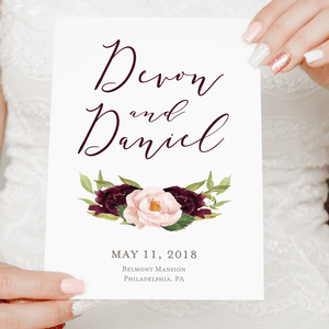 Ceremony Program - Ceremony Programs (Folded) | The Devon Wedding Collection