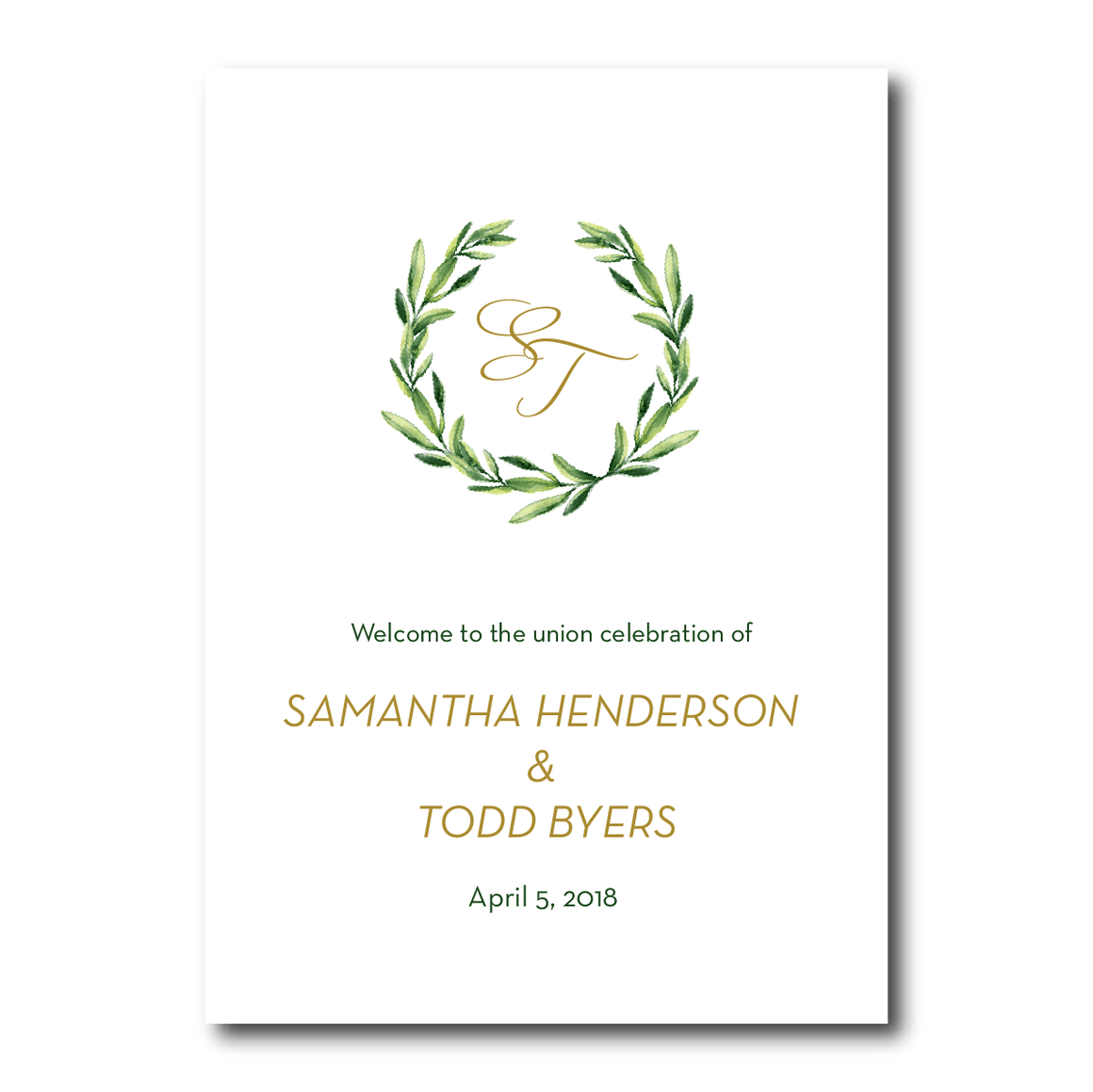 Ceremony Program - Ceremony Programs | The Piper Wedding Collection