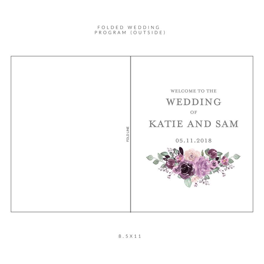 Ceremony Program - Ceremony Programs (Folded) | The Emily Wedding Collection