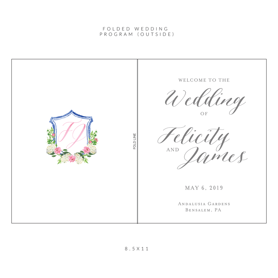 Ceremony Program - Ceremony Programs (Folded) | The Felicity Wedding Collection