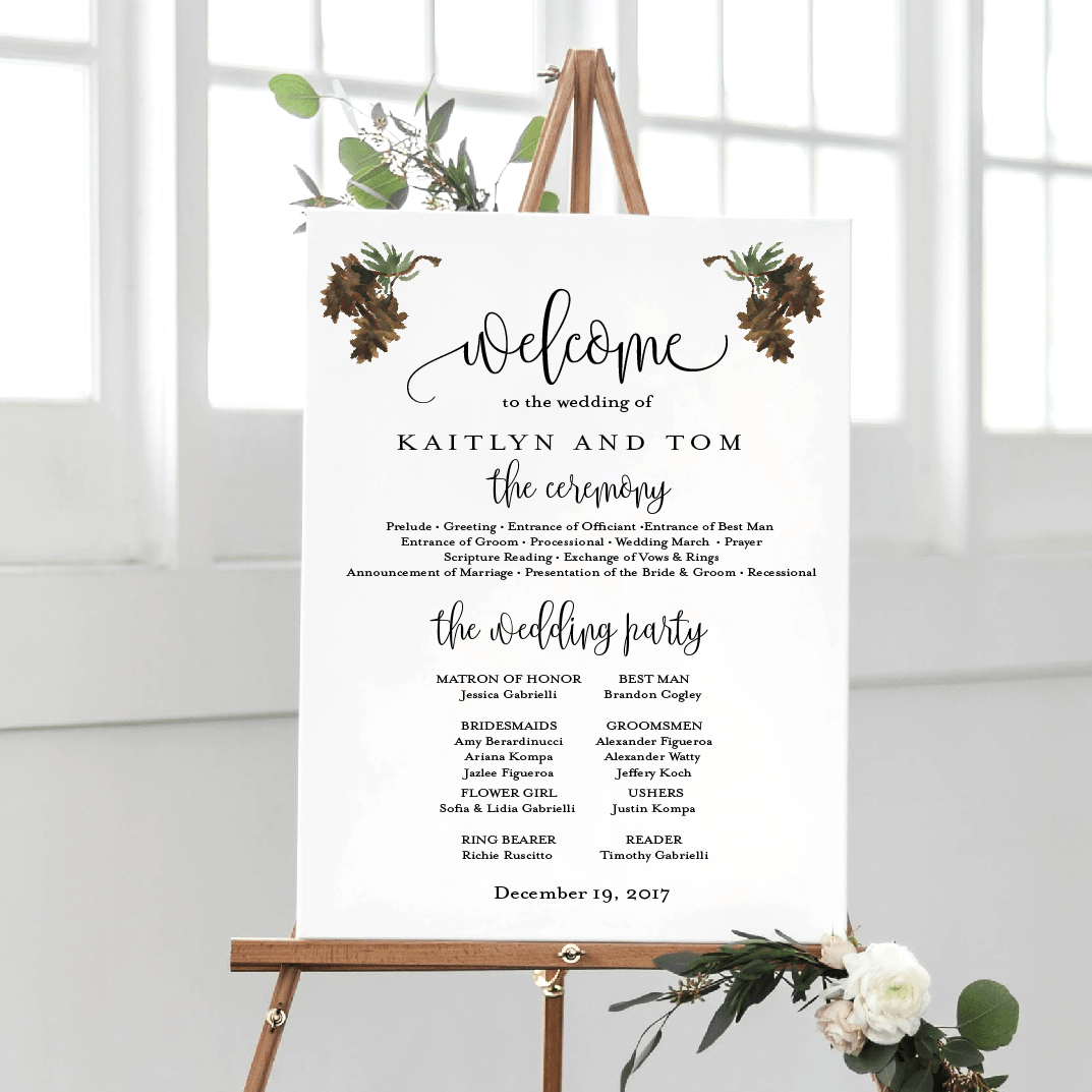 Welcome Prints - Winter Wedding Welcome And Ceremony Print