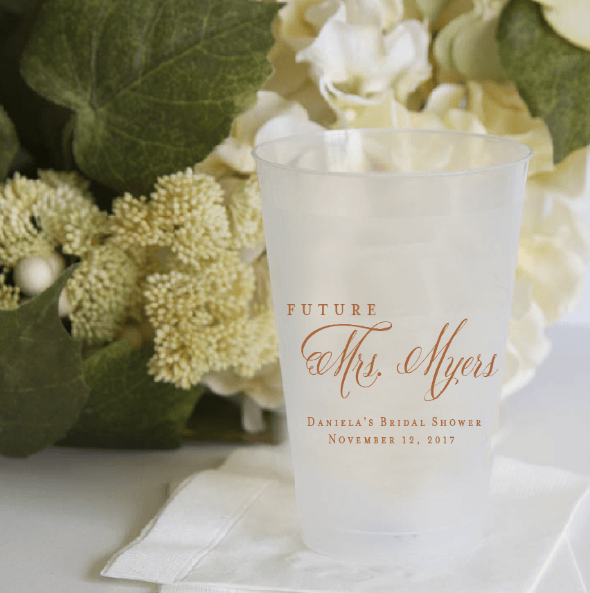 Future Mrs Bridal Shower Frosted Plastic Cups