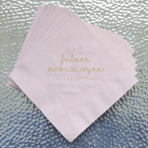 Personalized Wedding Napkin - Future Mrs Bridal Shower Napkins