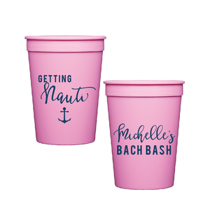 Stadium Cups - Getting Nauti Bachelorette Personalized Stadium Cups