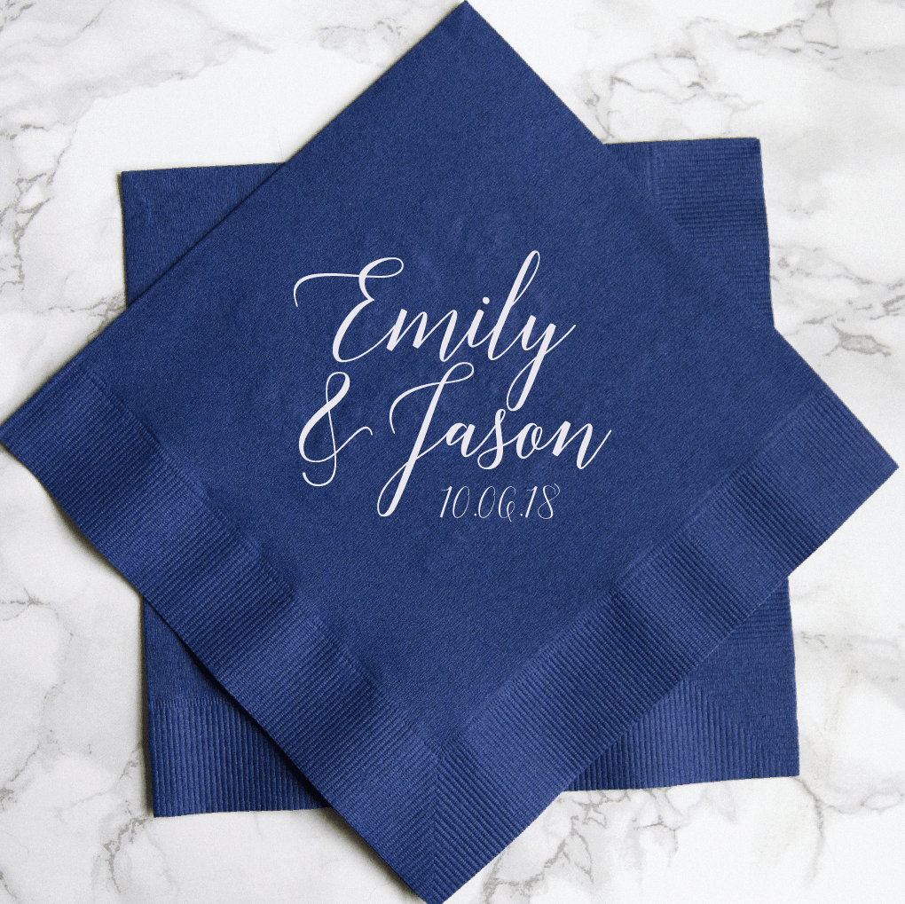 Chic First Names Personalized Wedding Napkins