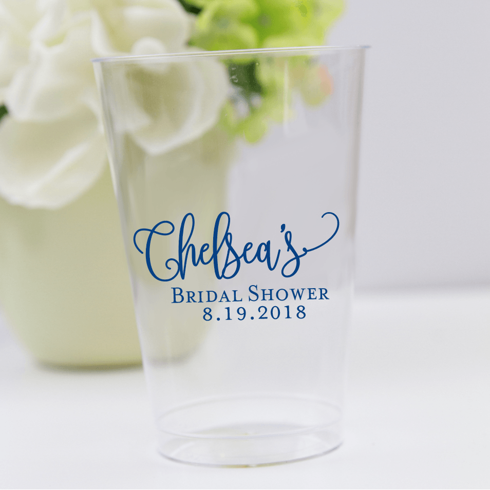 Bridal Shower Clear Plastic Cups
