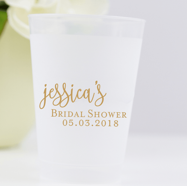 Bridal Shower Frosted Plastic Cups