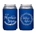 Let the Adventure Begin Personalized Wedding Beer Can Cooler
