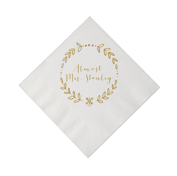 Almost Mrs. Personalized Bridal Shower Napkins
