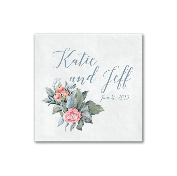 Floral Watercolor Wedding Napkins