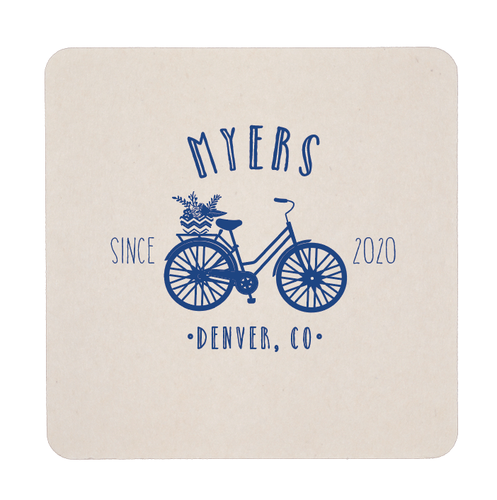 Personalized Coaster - Bicycle Wedding Personalized Coasters