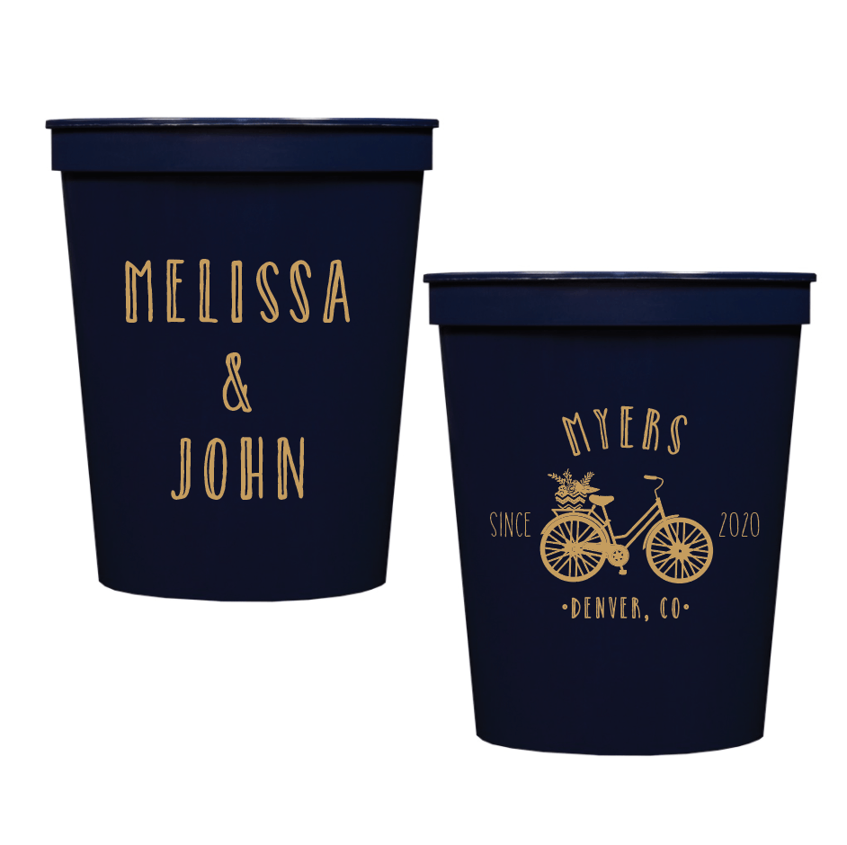 Bicycle Personalized Stadium Cups