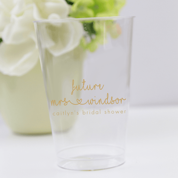 Future Mrs Bridal Shower Clear Plastic Cups