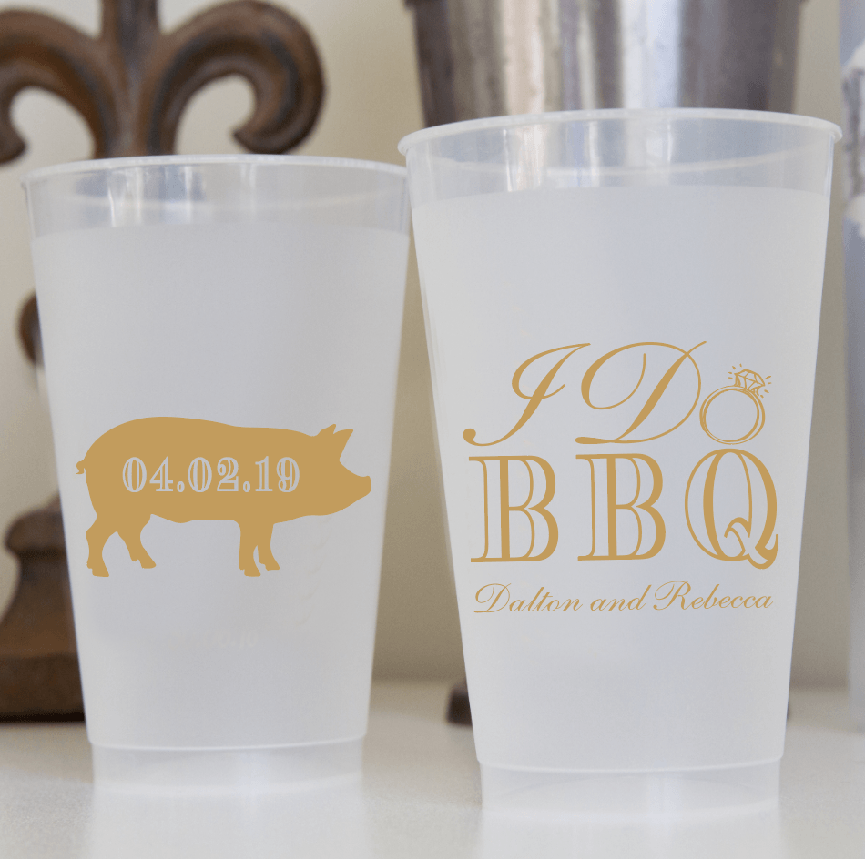 I Do BBQ Frosted Plastic Cups