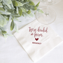 We Decided on Forever Personalized Bridal Shower Napkins