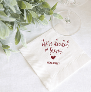 Personalized Bridal Shower Napkin - We Decided On Forever Personalized Bridal Shower Napkins