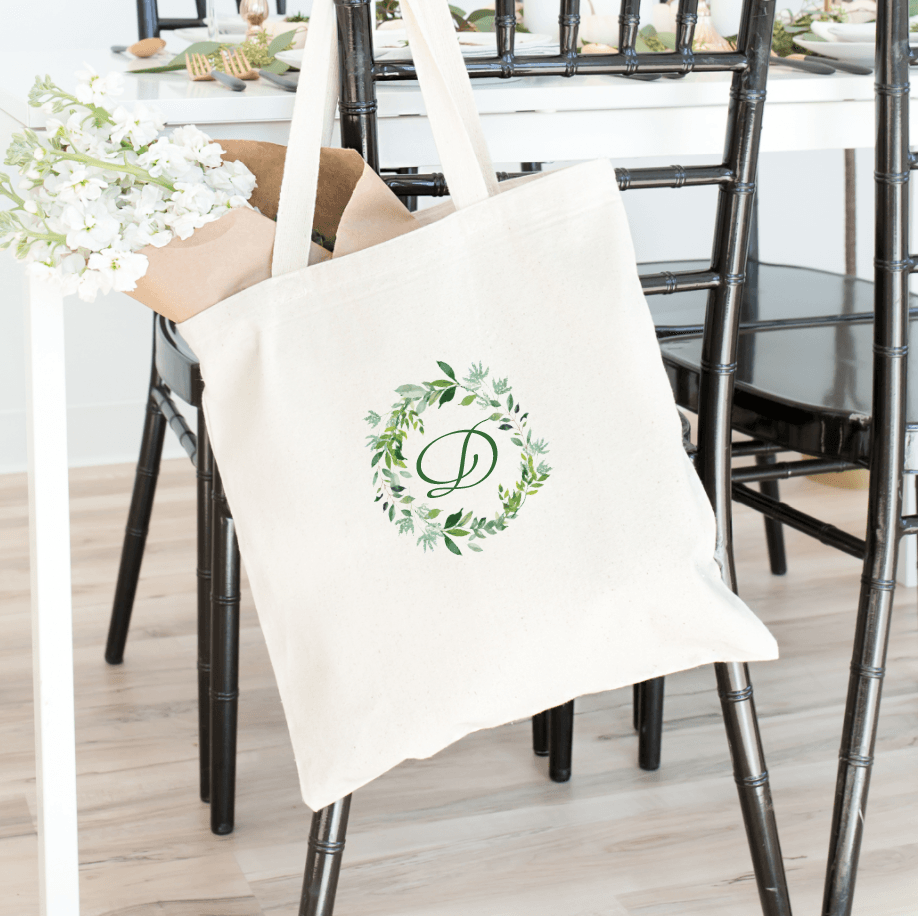 Greenery Wreath Bridal Tote Bag