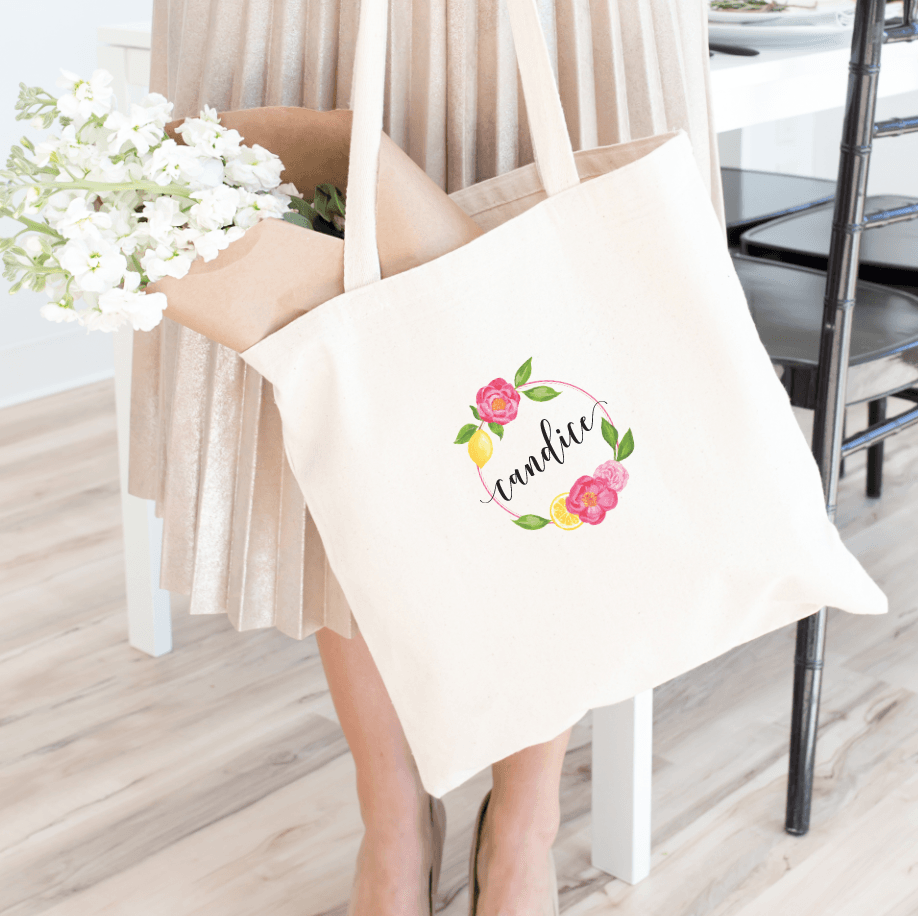Summer Floral Bridal Tote Bag