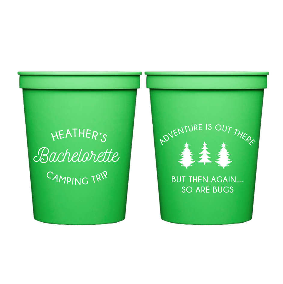 Adventure is Out There Bachelorette Stadium Cups