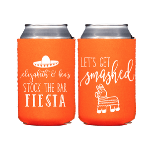 Can Cooler - Stock The Bar Fiesta Bridal Shower Beer Can Cooler