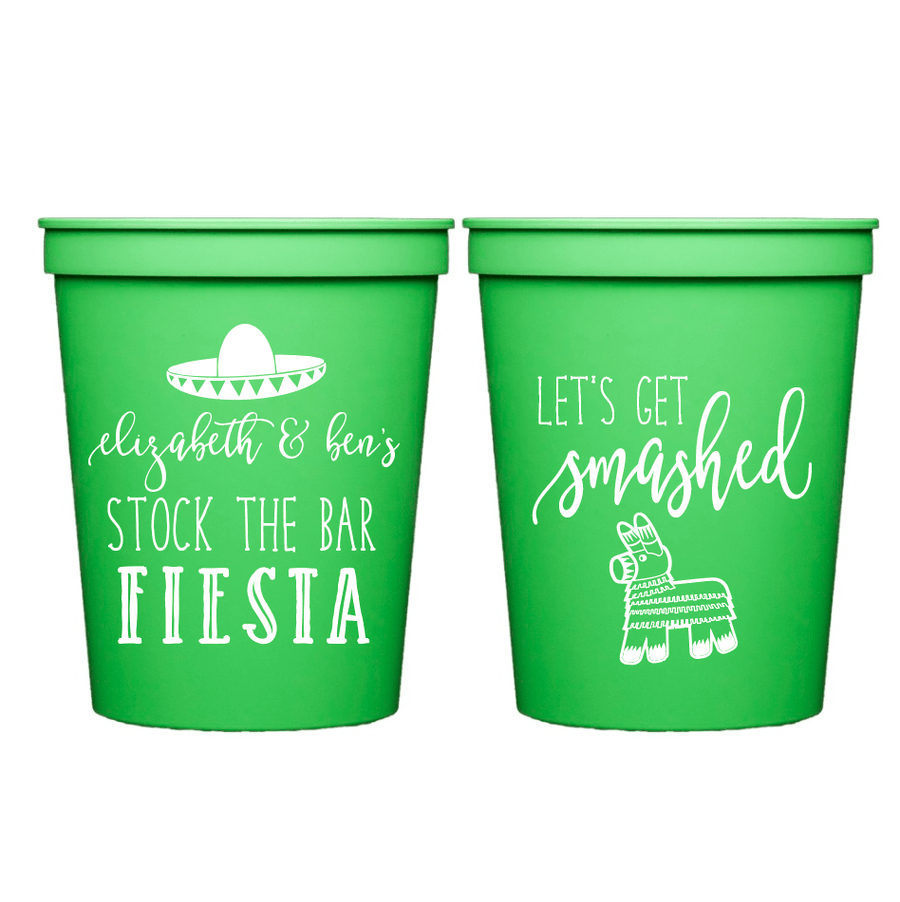 Stadium Cups - Stock The Bar Fiesta Personalized Stadium Cups