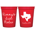 Last Rodeo Bachelorette Stadium Cups