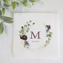 Geo Fall Floral Wedding Napkins
