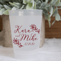 Winter Wedding Frosted Plastic Cups