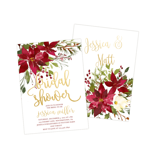 Bridal Shower Invitation | Poinsettias
