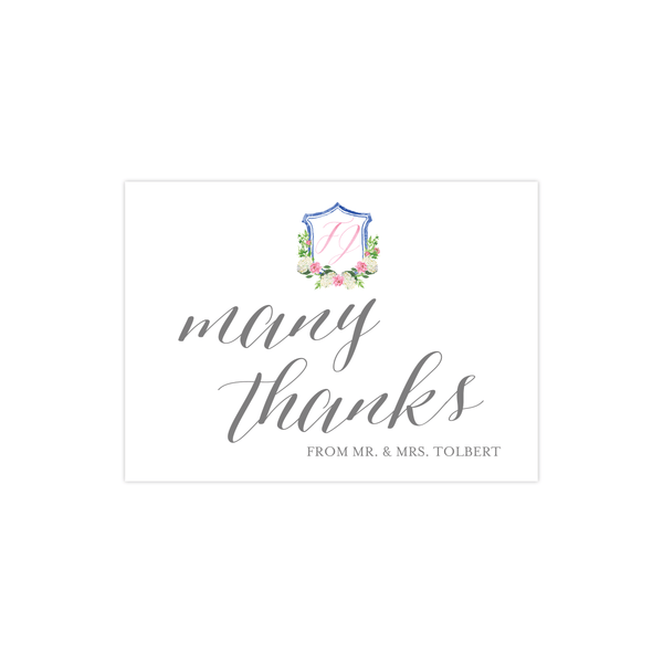 Thank You Card | The Felicity Wedding Collection