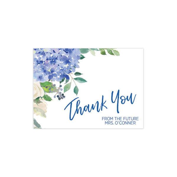 Thank You Card | Blue Floral Bridal Shower