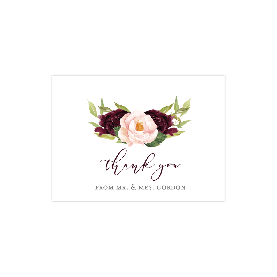Wedding Thank You Card - Thank You Card | The Devon Wedding Collection