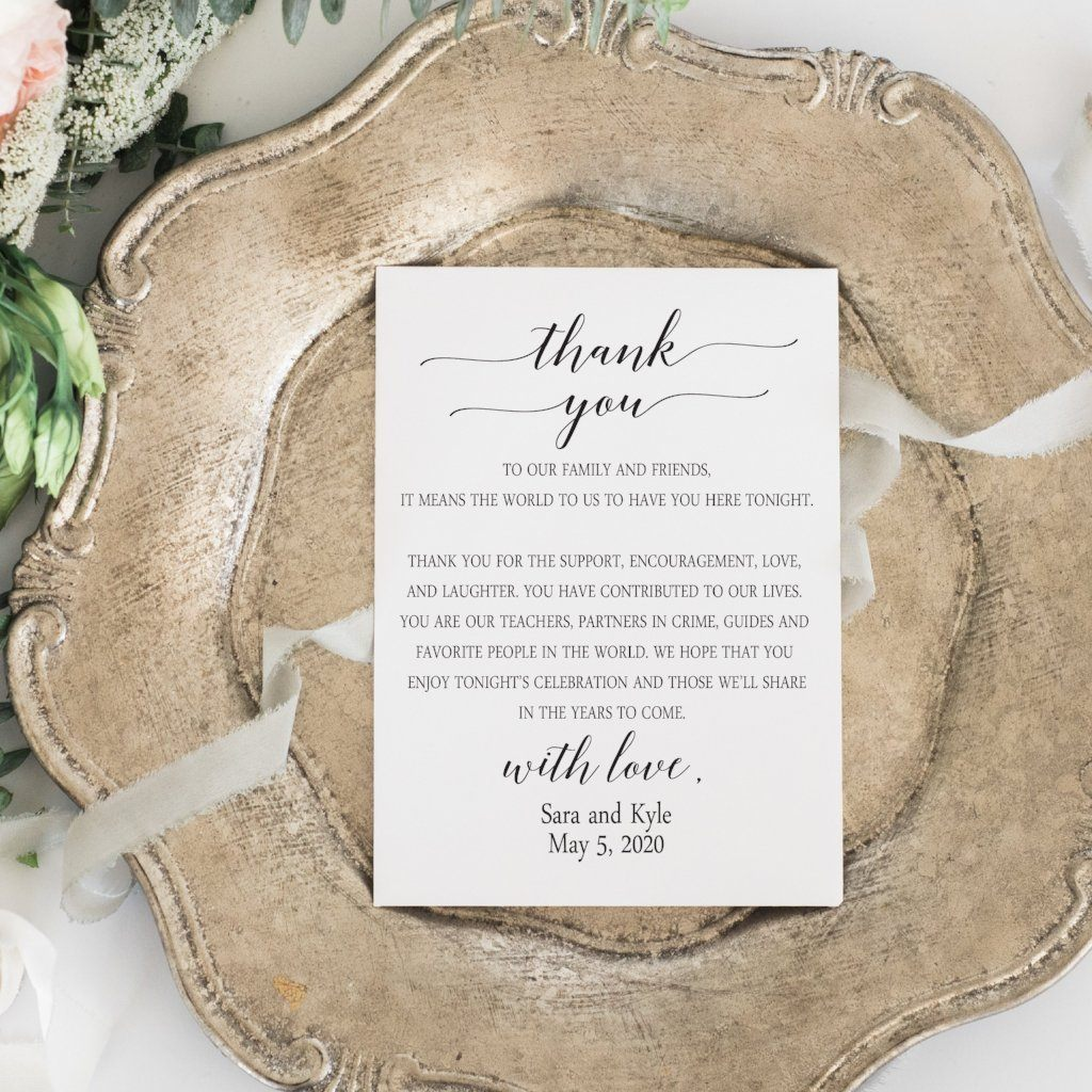 Reception Thank You Cards Pink Poppy Weddings