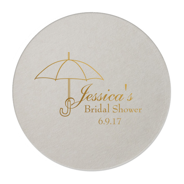 Bridal Shower Umbrella Personalized Coasters -   - Pink Poppy Party Shoppe - 1