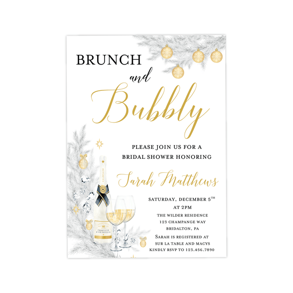 Bridal Shower Invitation | Winter Bubbly
