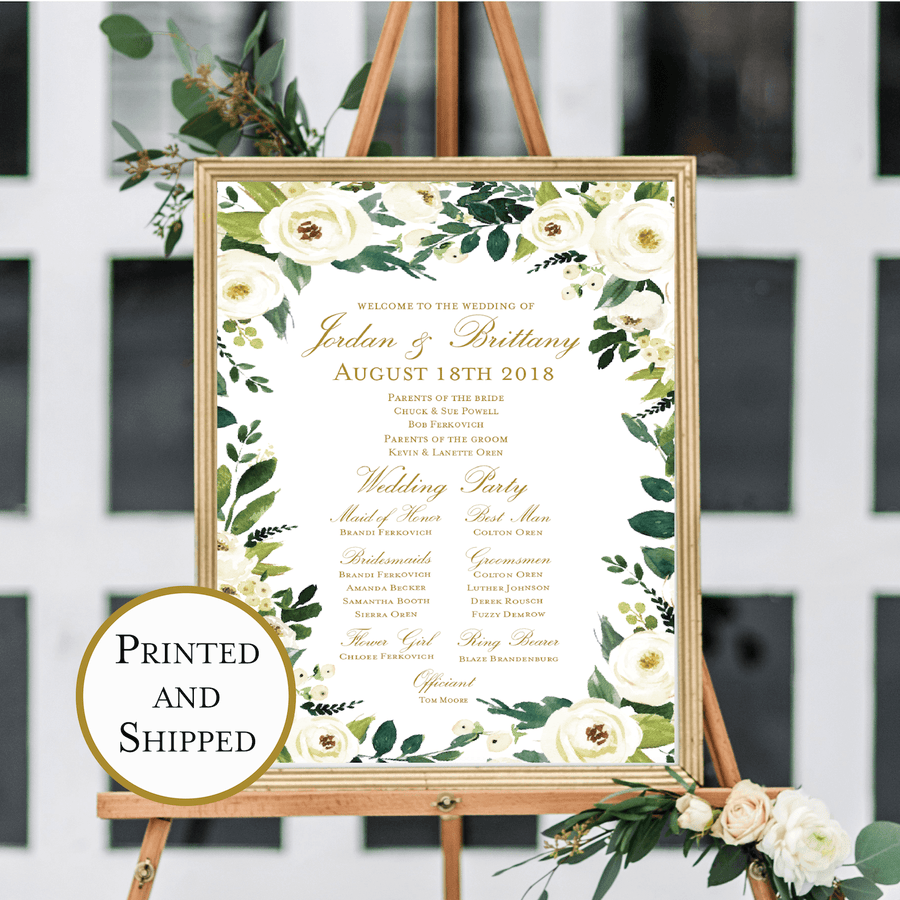 Welcome Prints - Wedding Welcome And Ceremony Print