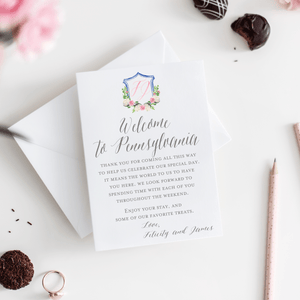 Welcome Card - Welcome Note | The Felicity Wedding Collection