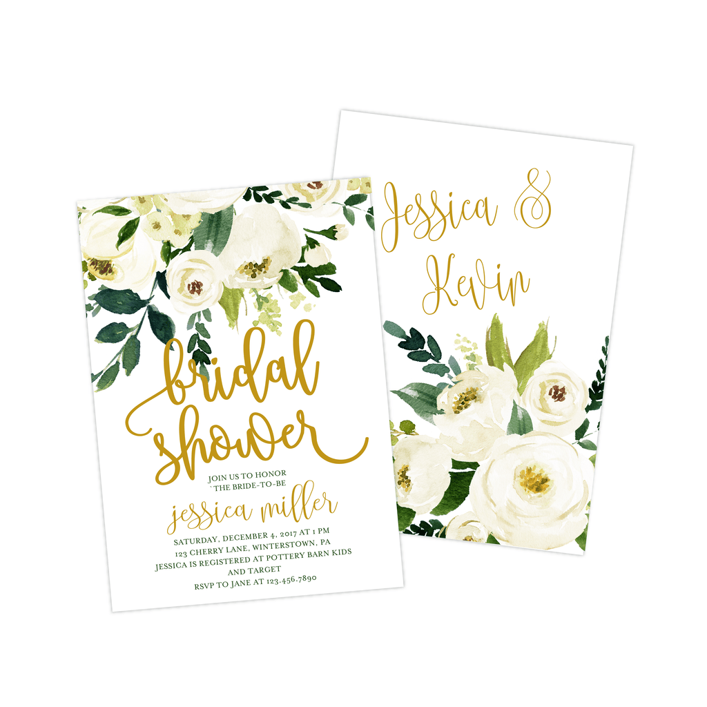 Bridal Shower Invitation | Winter White