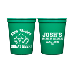 Stadium Cups - Good Friends Great Beer Bachelor Party Stadium Cups