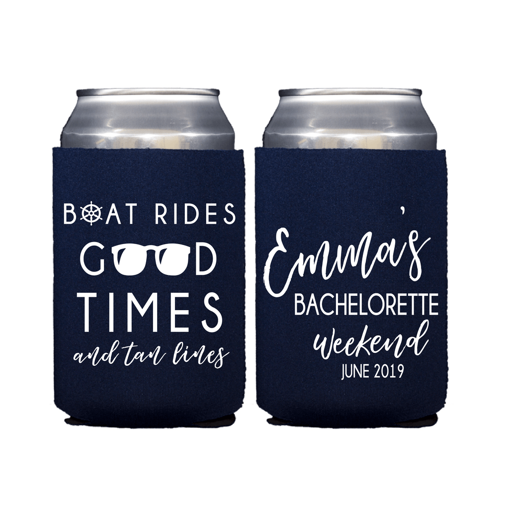 Boat Rides and Good Times Bachelorette Can Cooler