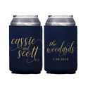 First Names Personalized Wedding Beer Can Cooler