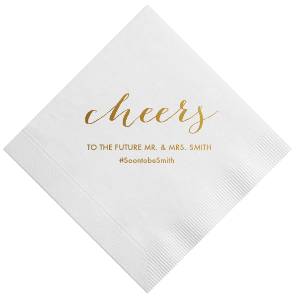 Cheers Wedding Napkins