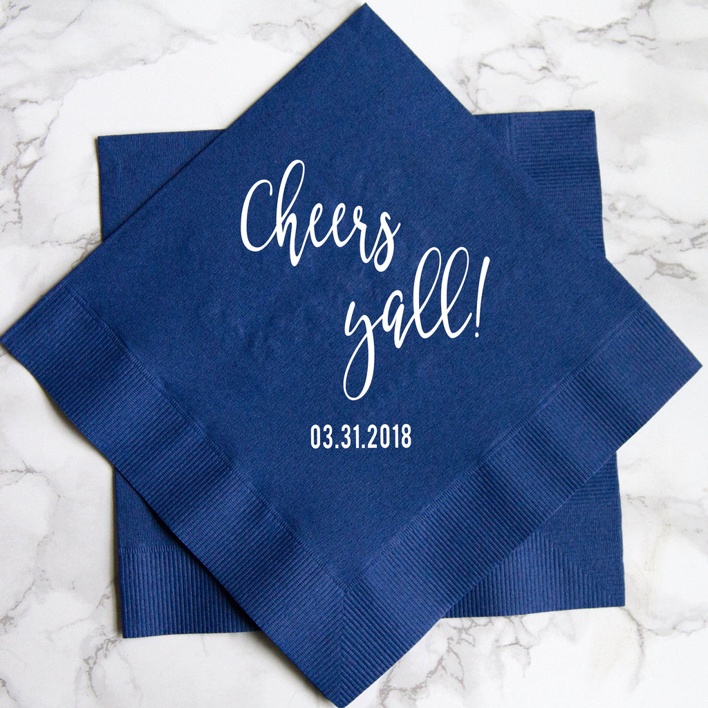 Cheers Y'all Wedding Napkins
