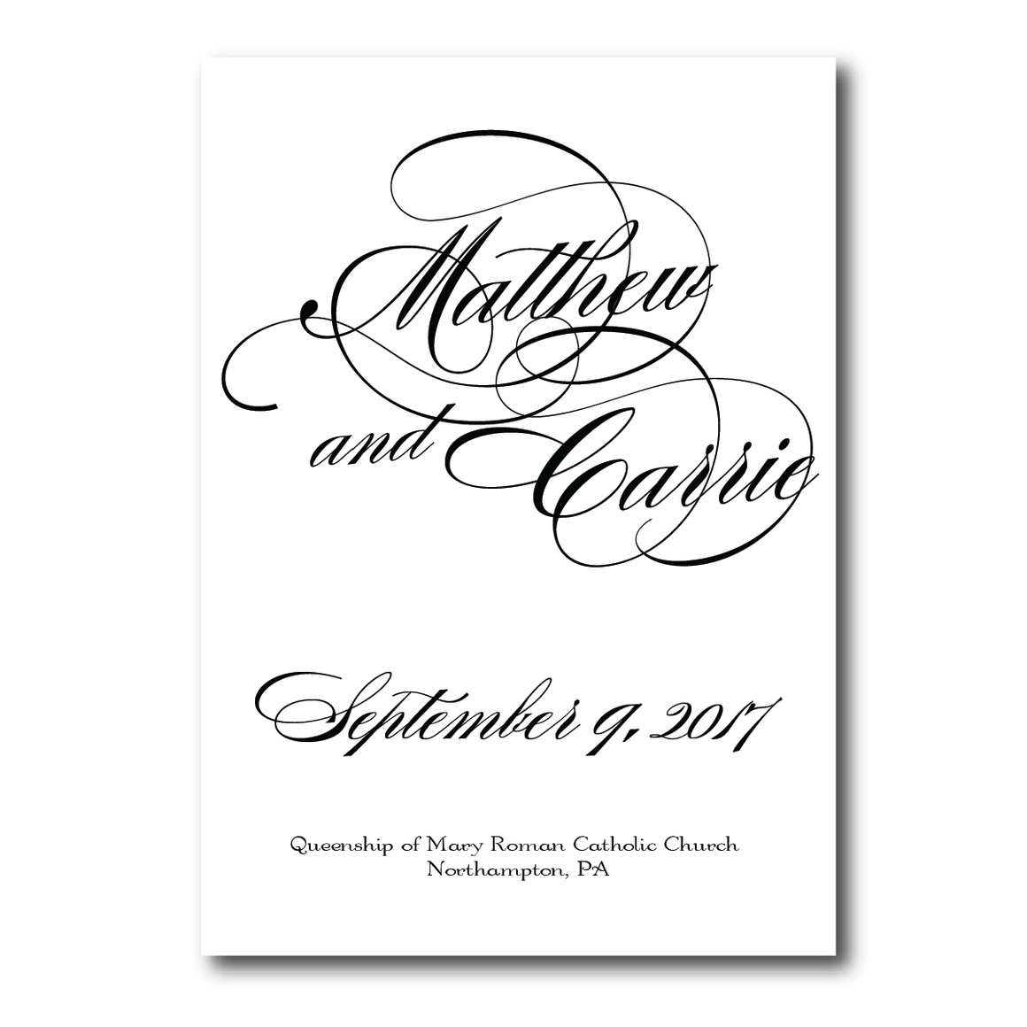 Ceremony Program - Ceremony Programs | The Diana Wedding Collection